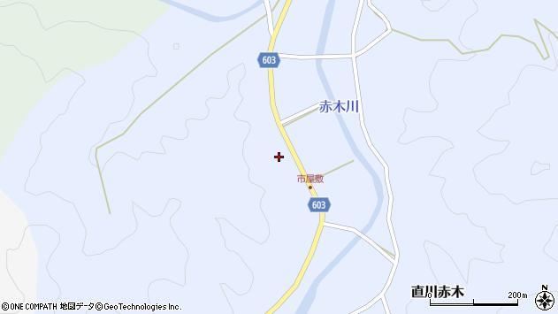 大分県佐伯市直川大字赤木518周辺の地図
