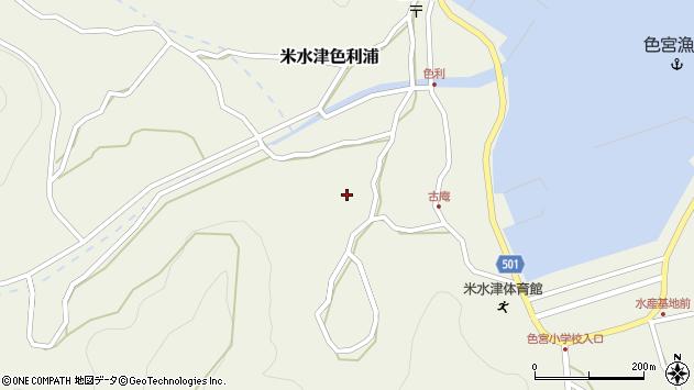 大分県佐伯市米水津大字色利浦1351周辺の地図
