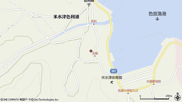 大分県佐伯市米水津大字色利浦1335周辺の地図