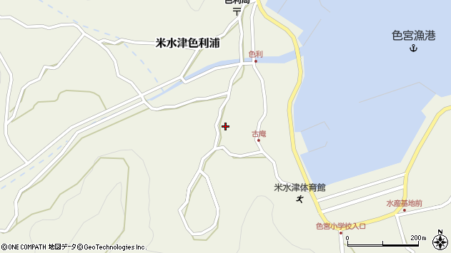 大分県佐伯市米水津大字色利浦1316周辺の地図