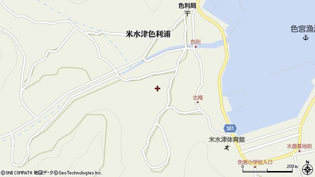 大分県佐伯市米水津大字色利浦1217周辺の地図