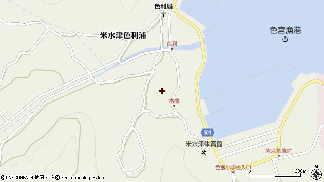 大分県佐伯市米水津大字色利浦1326周辺の地図