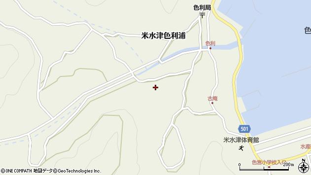 大分県佐伯市米水津大字色利浦1367周辺の地図