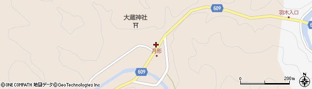 大分県佐伯市直川大字横川501周辺の地図