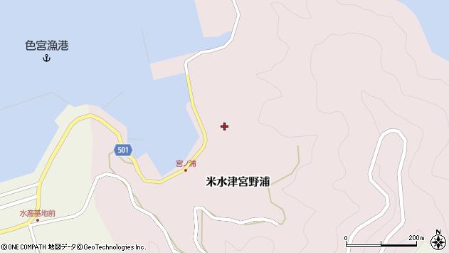 大分県佐伯市米水津大字宮野浦636周辺の地図
