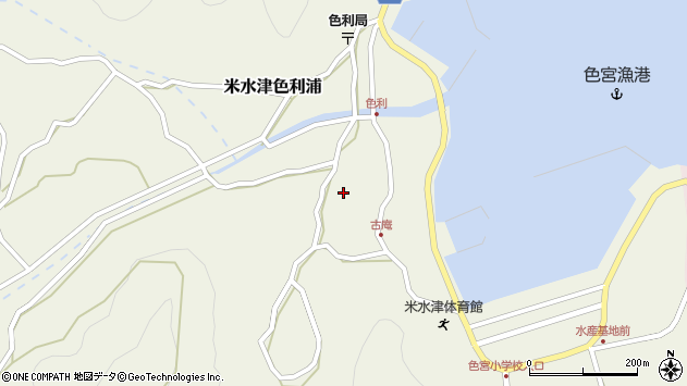 大分県佐伯市米水津大字色利浦1310周辺の地図