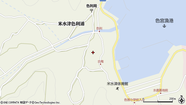 大分県佐伯市米水津大字色利浦1308周辺の地図