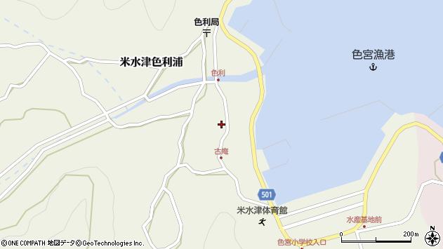 大分県佐伯市米水津大字色利浦1286周辺の地図