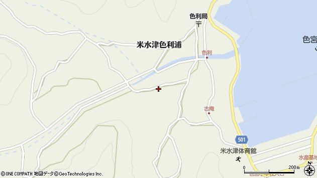 大分県佐伯市米水津大字色利浦1203周辺の地図