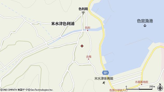 大分県佐伯市米水津大字色利浦1305周辺の地図