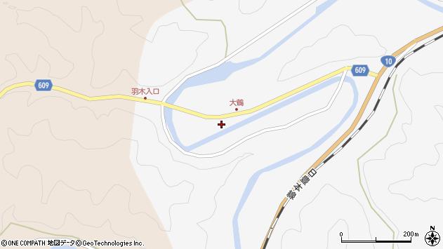 大分県佐伯市直川大字仁田原268周辺の地図