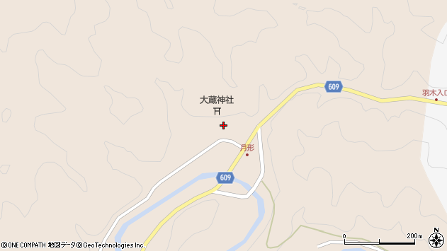 大分県佐伯市直川大字横川563周辺の地図