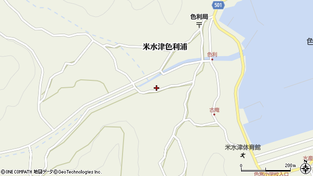 大分県佐伯市米水津大字色利浦458周辺の地図