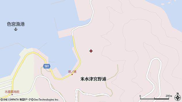 大分県佐伯市米水津大字宮野浦671周辺の地図