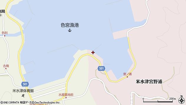 大分県佐伯市米水津大字宮野浦1周辺の地図