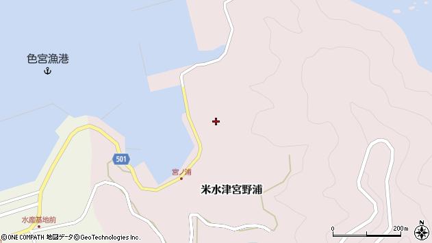 大分県佐伯市米水津大字宮野浦660周辺の地図