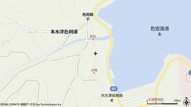 大分県佐伯市米水津大字色利浦1288周辺の地図