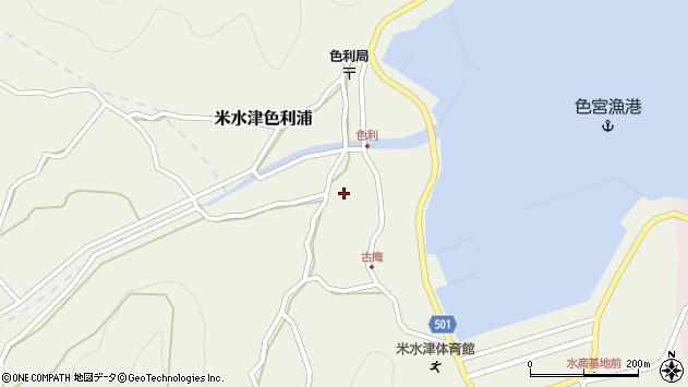 大分県佐伯市米水津大字色利浦周辺の地図