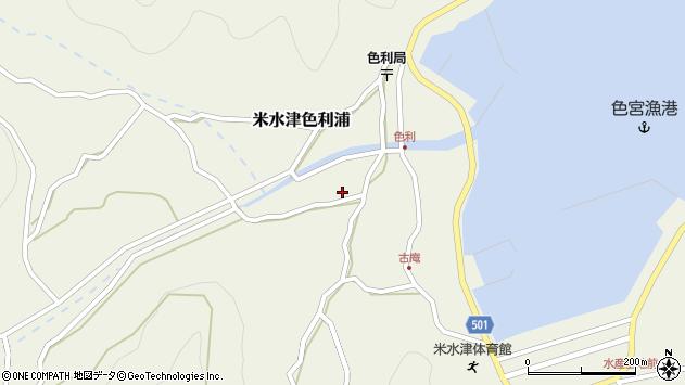 大分県佐伯市米水津大字色利浦454周辺の地図