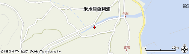 大分県佐伯市米水津大字色利浦461周辺の地図