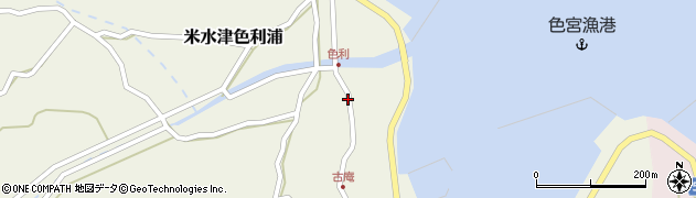 大分県佐伯市米水津大字色利浦1289周辺の地図