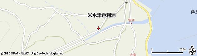 大分県佐伯市米水津大字色利浦411周辺の地図