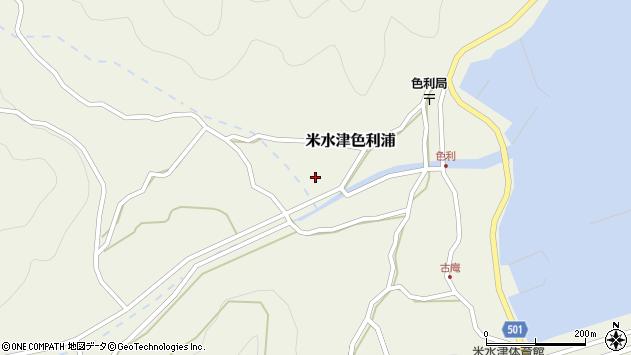 大分県佐伯市米水津大字色利浦465周辺の地図
