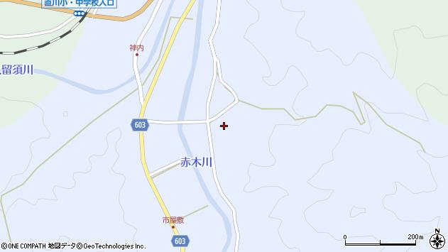 大分県佐伯市直川大字赤木3174周辺の地図