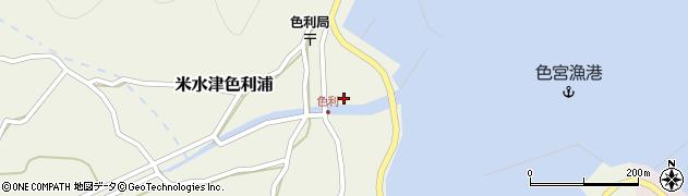 大分県佐伯市米水津大字色利浦344周辺の地図