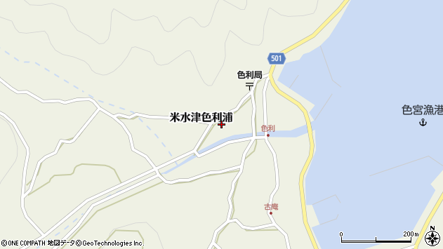 大分県佐伯市米水津大字色利浦418周辺の地図
