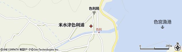 大分県佐伯市米水津大字色利浦358周辺の地図