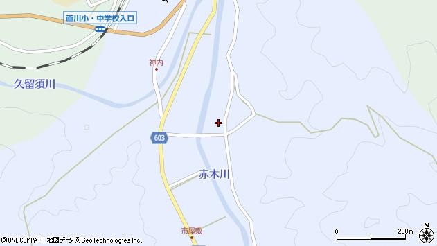 大分県佐伯市直川大字赤木栗林周辺の地図