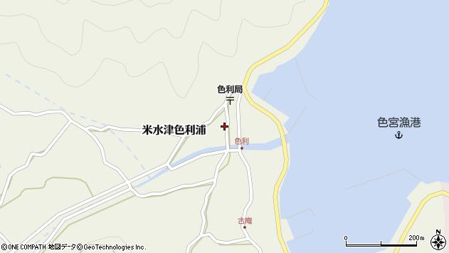 大分県佐伯市米水津大字色利浦360周辺の地図