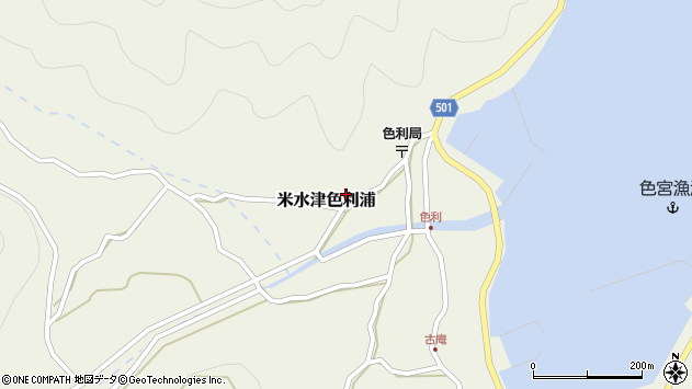大分県佐伯市米水津大字色利浦408周辺の地図