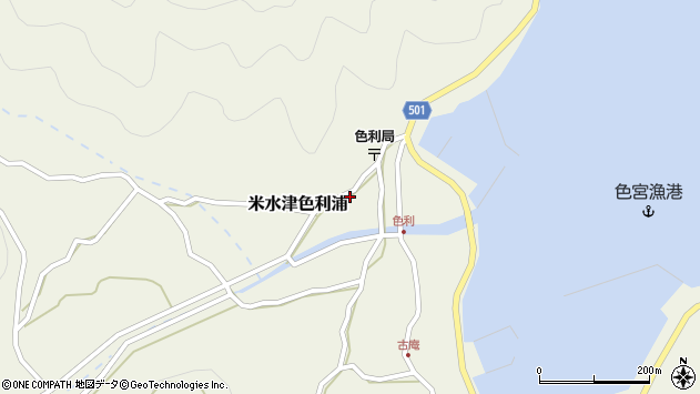 大分県佐伯市米水津大字色利浦424周辺の地図