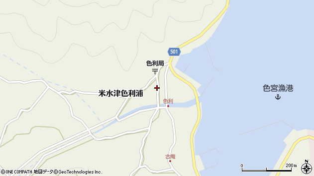 大分県佐伯市米水津大字色利浦368周辺の地図