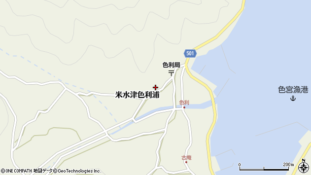 大分県佐伯市米水津大字色利浦400周辺の地図