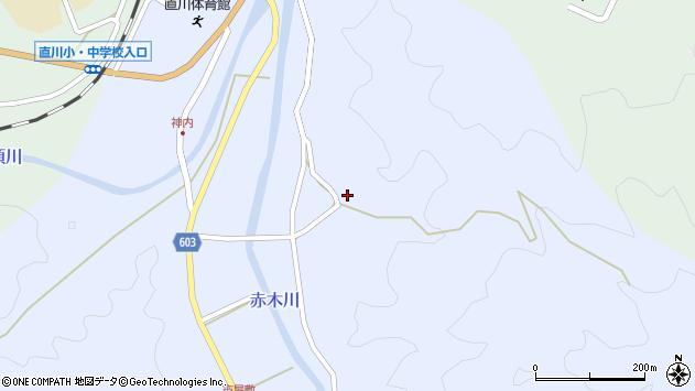 大分県佐伯市直川大字赤木3307周辺の地図