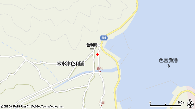 大分県佐伯市米水津大字色利浦335周辺の地図