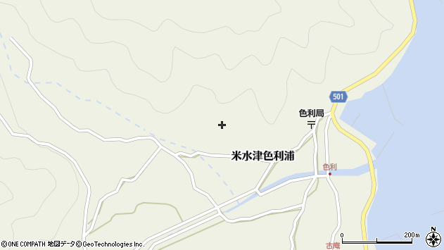 大分県佐伯市米水津大字色利浦532周辺の地図