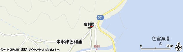 大分県佐伯市米水津大字色利浦380周辺の地図