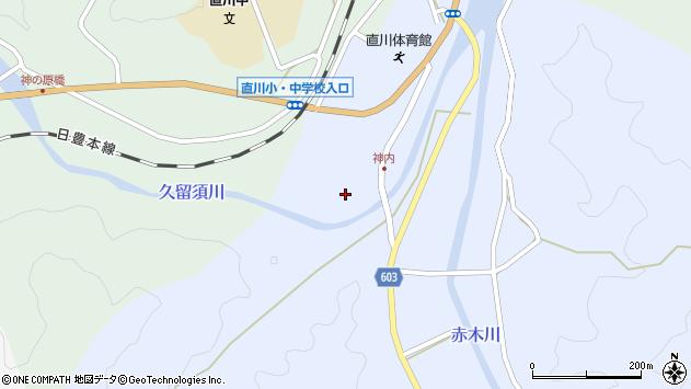 大分県佐伯市直川大字赤木213周辺の地図