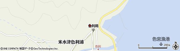 大分県佐伯市米水津大字色利浦381周辺の地図