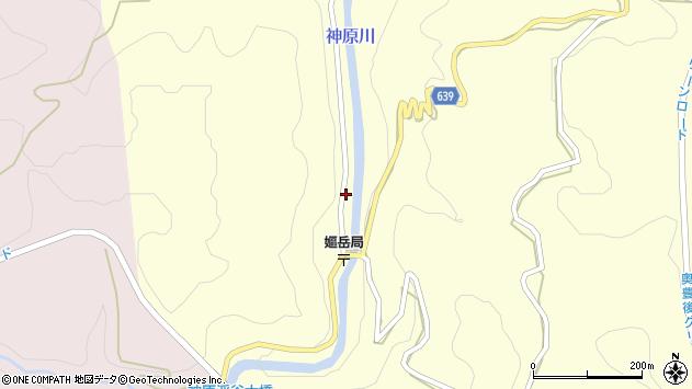 大分県竹田市中角390周辺の地図