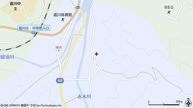 大分県佐伯市直川大字赤木3288周辺の地図