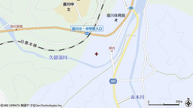 大分県佐伯市直川大字赤木208周辺の地図
