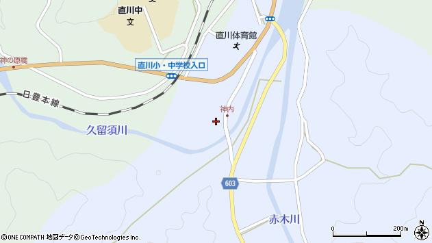 大分県佐伯市直川大字赤木神内周辺の地図