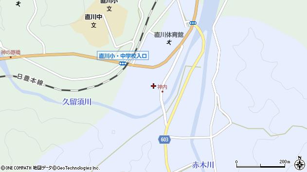 大分県佐伯市直川大字赤木165周辺の地図