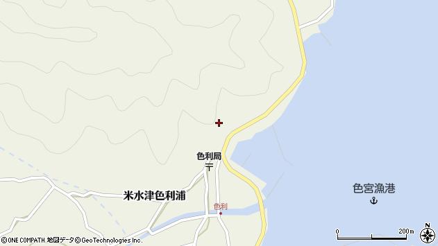 大分県佐伯市米水津大字色利浦326周辺の地図