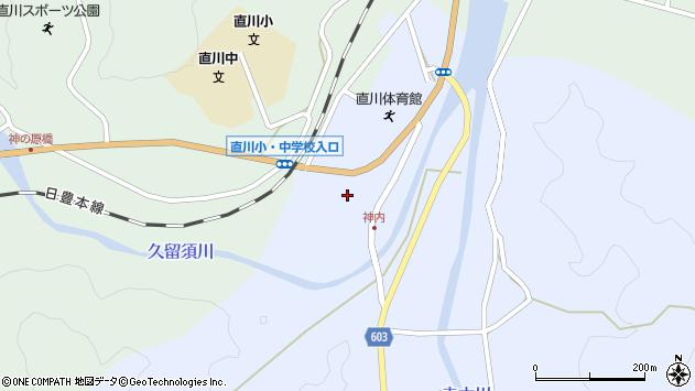 大分県佐伯市直川大字赤木154周辺の地図